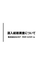 侵入経路調査についてカタログ表紙画像