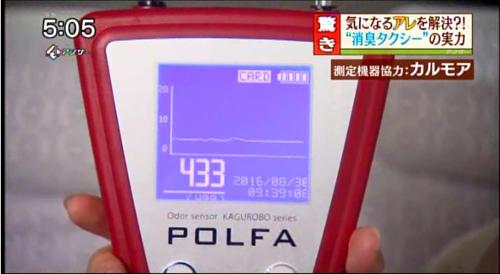 ニオイセンサーPOLFA TV貸出3